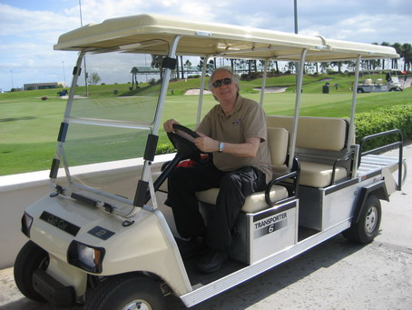 Stan in Golf Cart