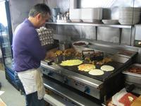 Nick working on Breakfast
