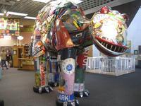Trashosaurus at Garbage Museum, Stratford