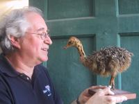 Stan and friend at Audubon Birdcraft Museum