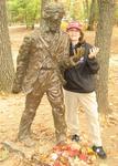 Sandra with Thoreau