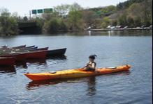 Kayaking under I-95