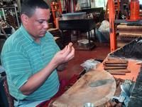 Making Cigars from scratch at the Market