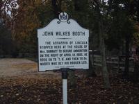 John Wilkes Booth marker at Surratt House
