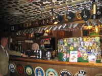 Patches on the ceiling of the Globe and Laurel