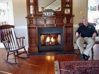 Stan relaxing at the Henry Clay Inn