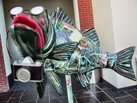 Fish sculpture at the Richmond CVB