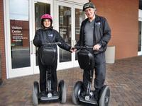 Sandra & Stan touring Richmond on Segways