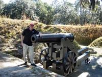 Examining a cannon