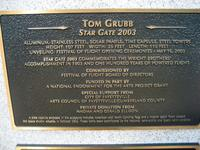 Plaque for Star Gate hanging art, Fayetteville