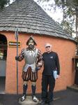 Stan with Conquistador at Fountain of Youth, St Augustine