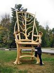 Chair sculpture, Schroon Lake