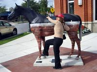 One of the famous horse sculptures, Saratoga Springs