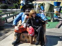 Sandra and the Pirate at Gooney Golf