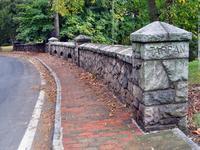 1790 original stone wall, Tappan