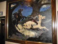 Headless Horseman painting in the tavern