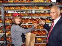 Choosing a fresh Challah, Rockland Bakery